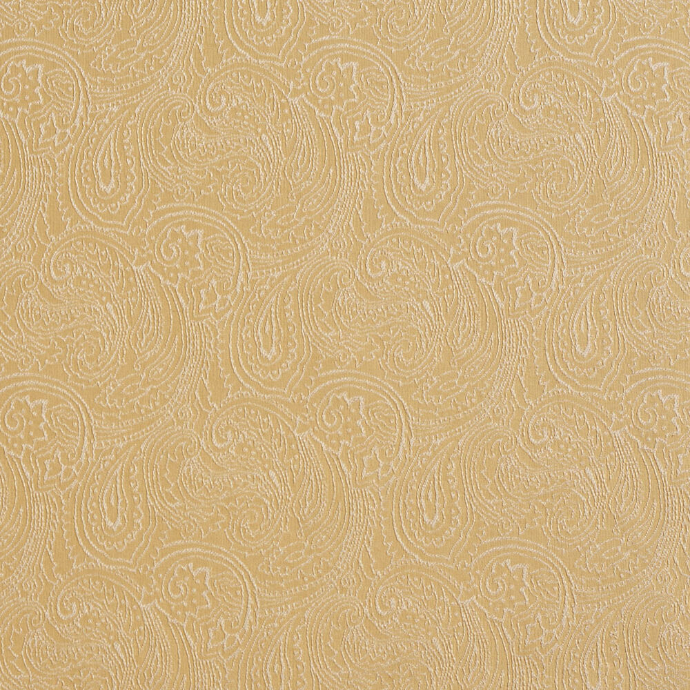 B635 gold traditional paisley woven jacquard upholstery for Fabric by the yard