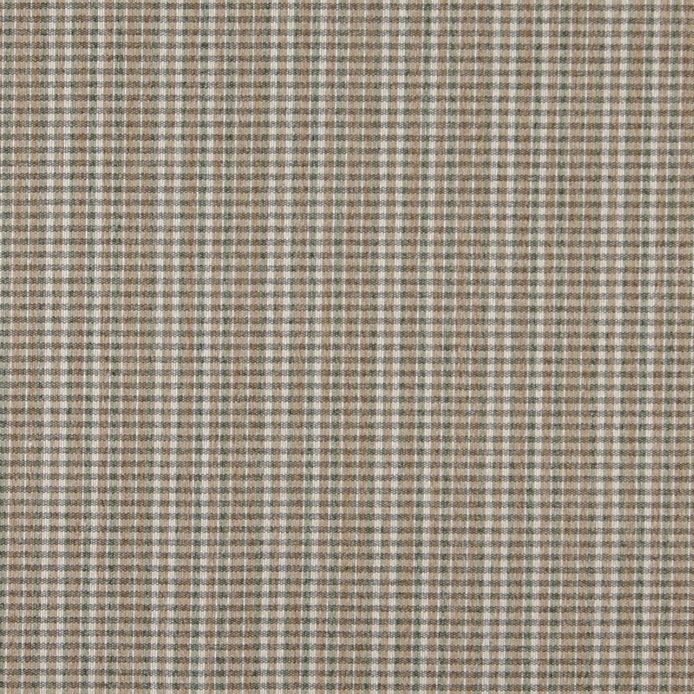 C646 Light Brown Green Ivory Small Plaid Country