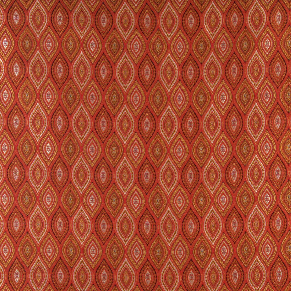 A0015g red brown gold ivory pointed oval brocade for Upholstery fabric for sale
