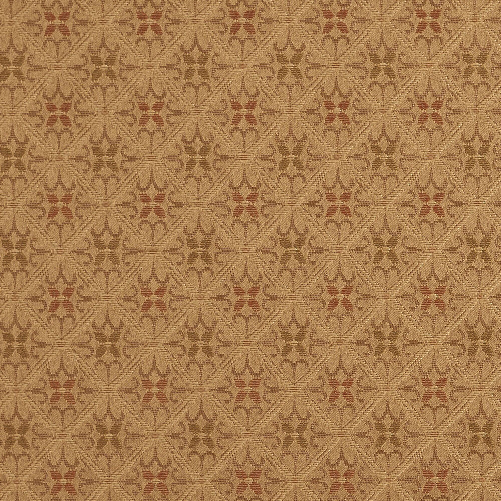 E657 diamond green brown gold damask upholstery drapery for Upholstery fabric