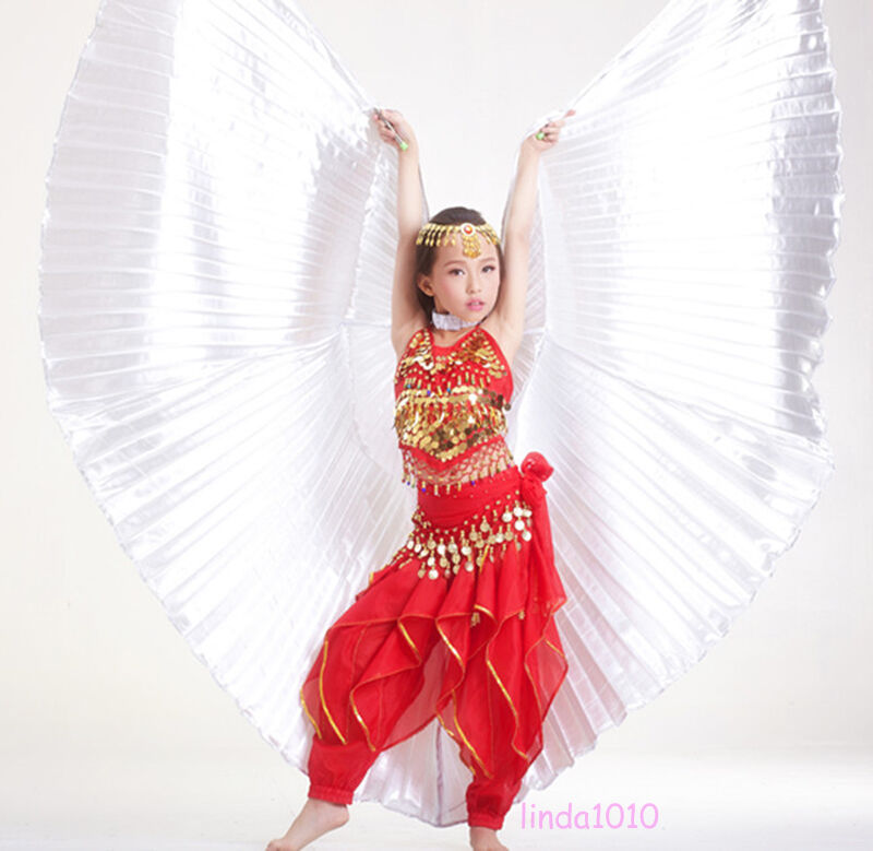 Angel Kids Belly Dance Costume Children's Isis Wings Gold ...