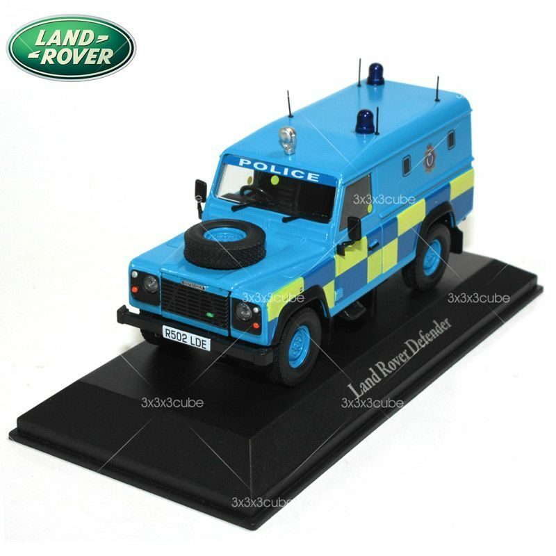 1 43 blue land rover defender sussex england police car british diecast model ebay - Land keuken model ...