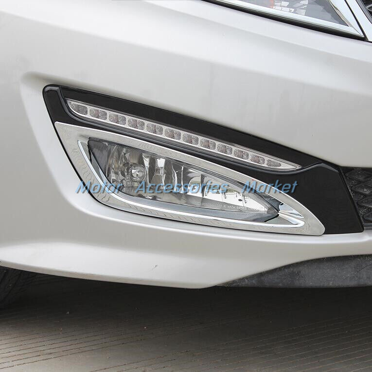 new chrome front fog light cover trim for kia k5 optima. Black Bedroom Furniture Sets. Home Design Ideas