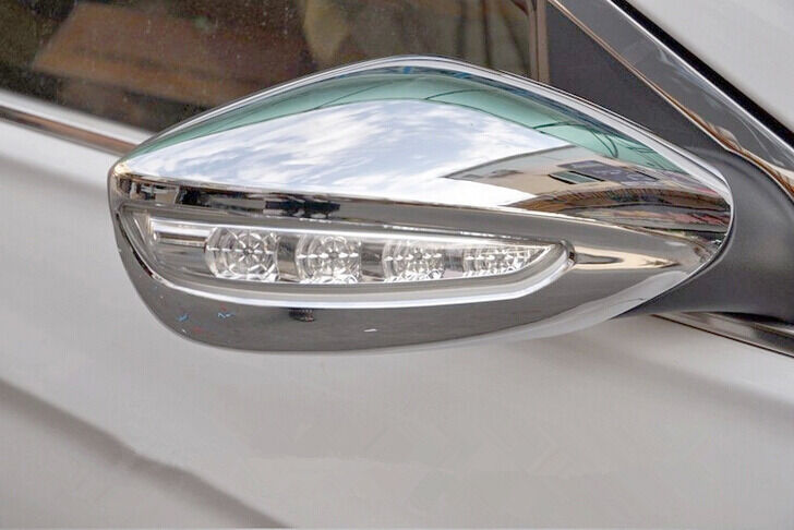 New Chrome Rearview Mirror Cover Trim For Hyundai Sonata