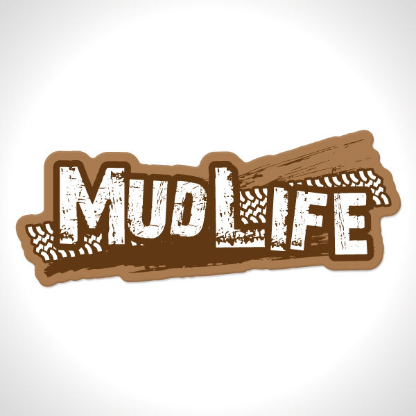 """Jeep Renegade Lifted >> Custom """"Mud Life"""" lifted truck jeep off-road 4x4 mudding bumper sticker decal   eBay"""
