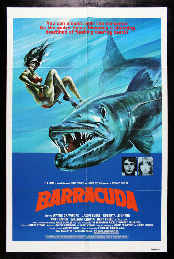 BARRACUDA * CineMasterpieces ORIGINAL HORROR FISH JAWS ...