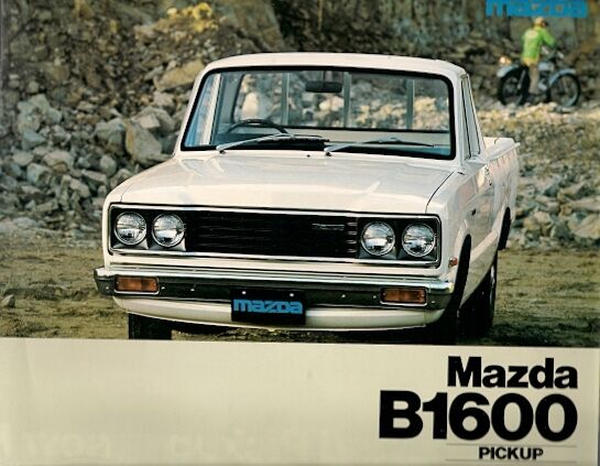 mazda b1600 pick up 1977 uk market sales brochure ebay. Black Bedroom Furniture Sets. Home Design Ideas