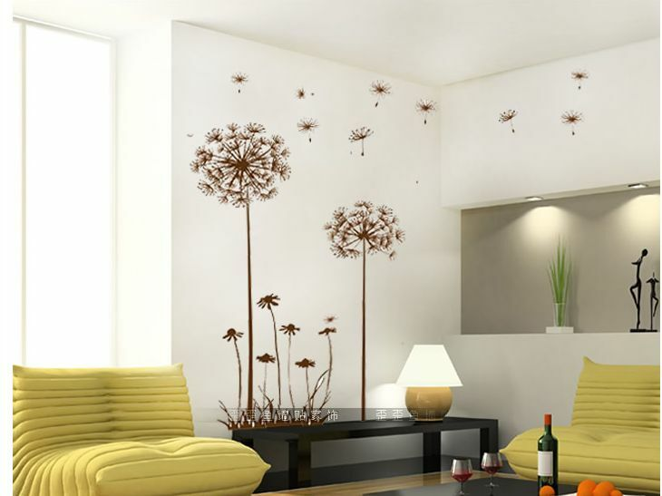 Sweet Home Decor Dandelion Fly Mural Removable Decal Room