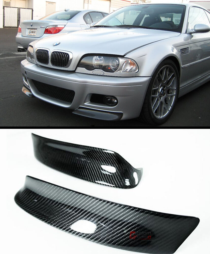 csl style blk carbon fiber front bumper lip splitter for. Black Bedroom Furniture Sets. Home Design Ideas