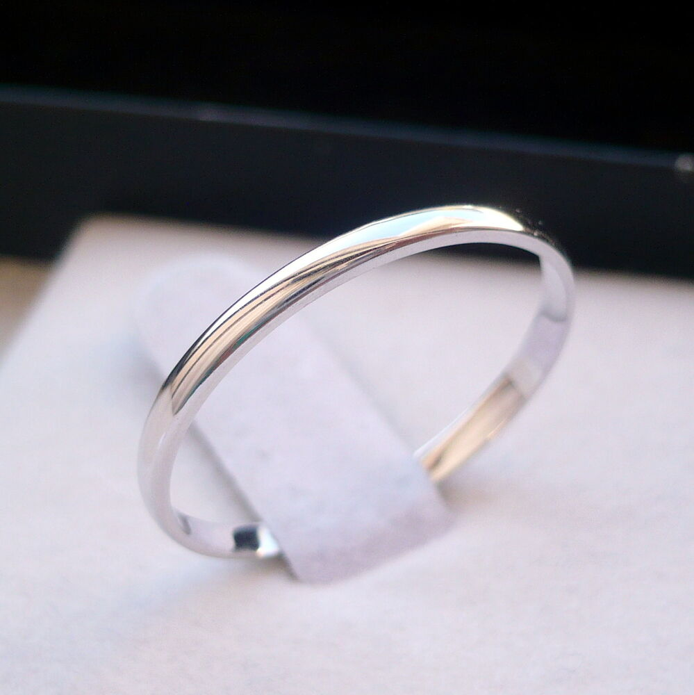2mm 10k Solid White Gold Women S Thumb Wedding Band Ring