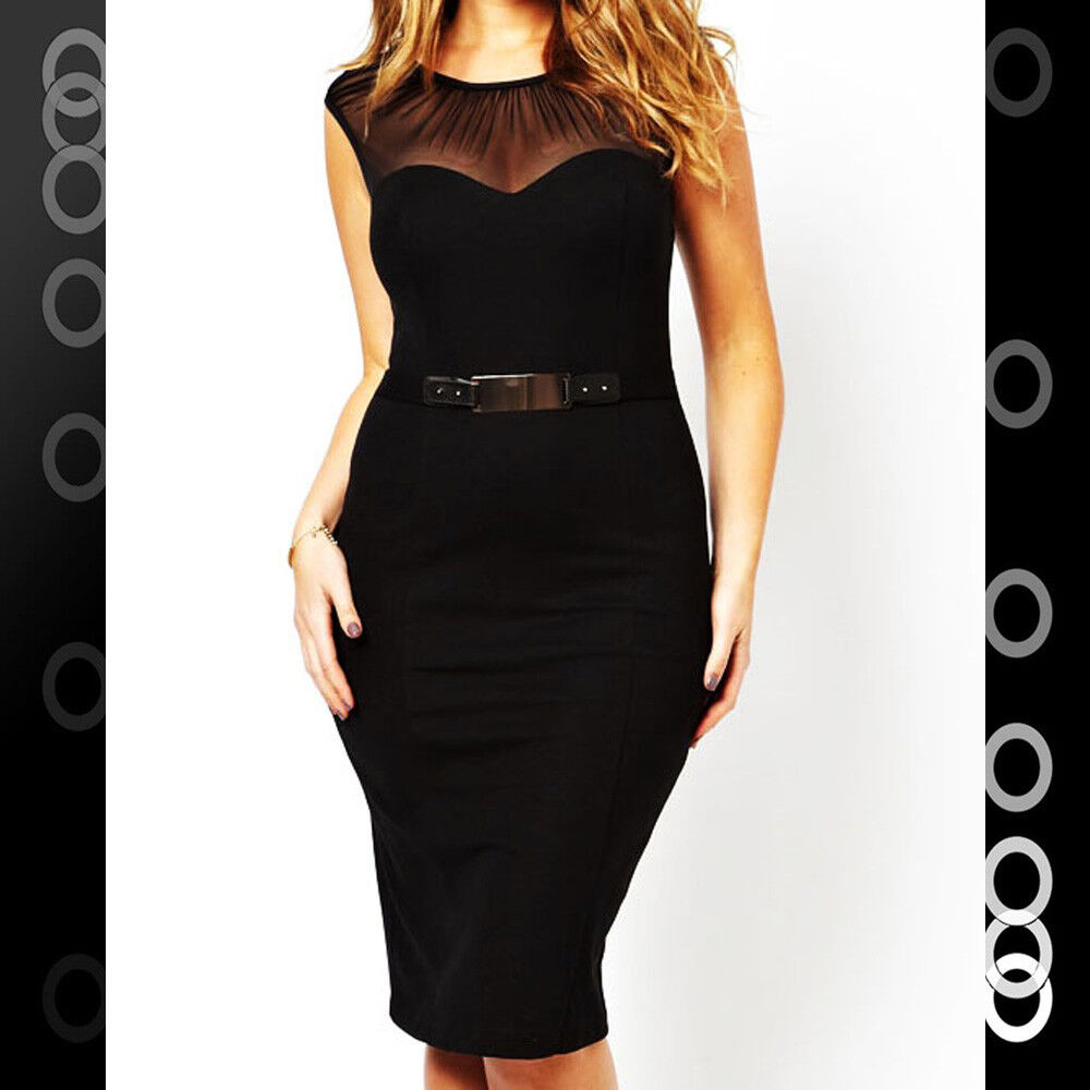 Plus Size Sexy Black Knee Length Clubwear Party Cocktail