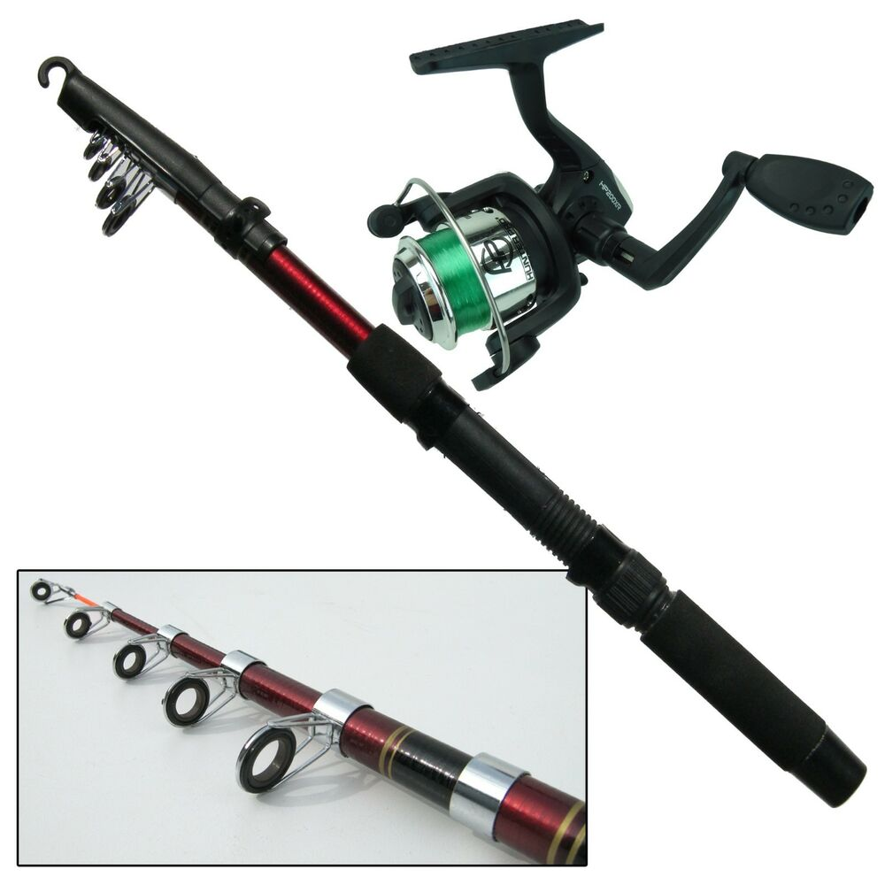 Novice kids beginners childs travel fishing rod reel set for Good beginner fishing rod