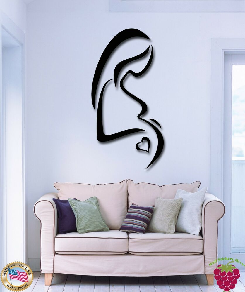 Wall Stickers Vinyl Decal Birth Pregnancy Pregnant Mother ...