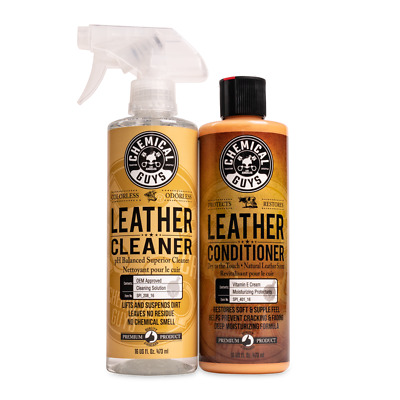 Chemical Guys SPI_109_16 - Leather Cleaner & Conditioner Leather Care Kit 16 oz