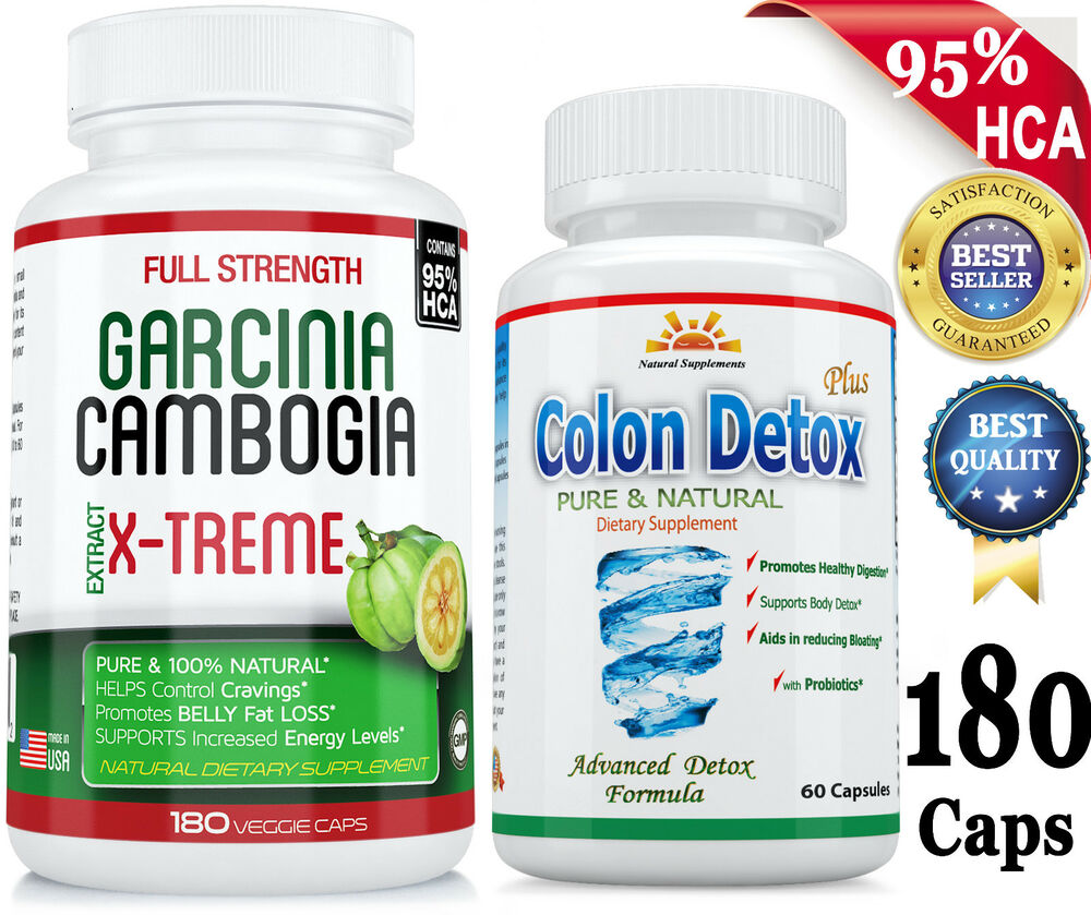 PURE GARCINIA CAMBOGIA EXTRACT + COLON Cleanse/DETOX for ...