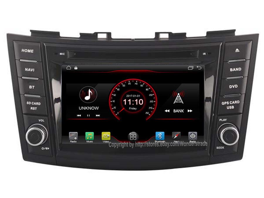 7 android 8 1 car dvd gps navi radio stereo for suzuki. Black Bedroom Furniture Sets. Home Design Ideas