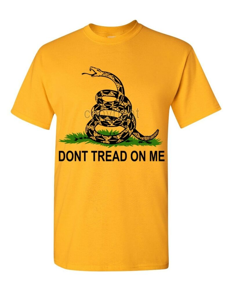 Dont Tread On Me Shirt >> NEW Don't Tread on Me black logo T-SHIRT American Pride Gadsden Flag tees | eBay