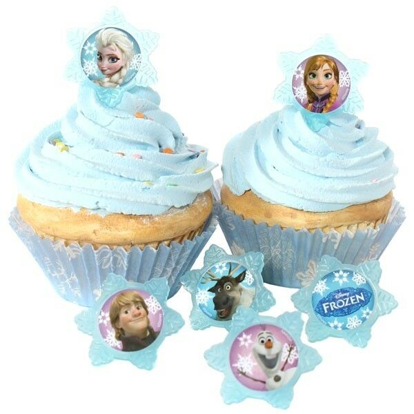 12 Pcs Disney Frozen Cupcake Cake Decorating Supplies