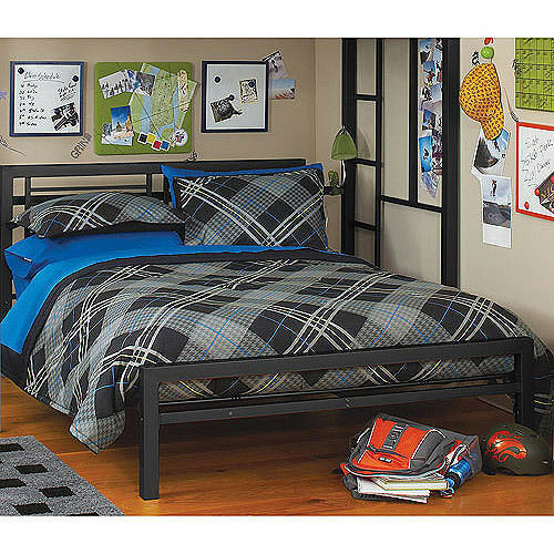 your zone metal platform bed frame with headboard footboard twin full new