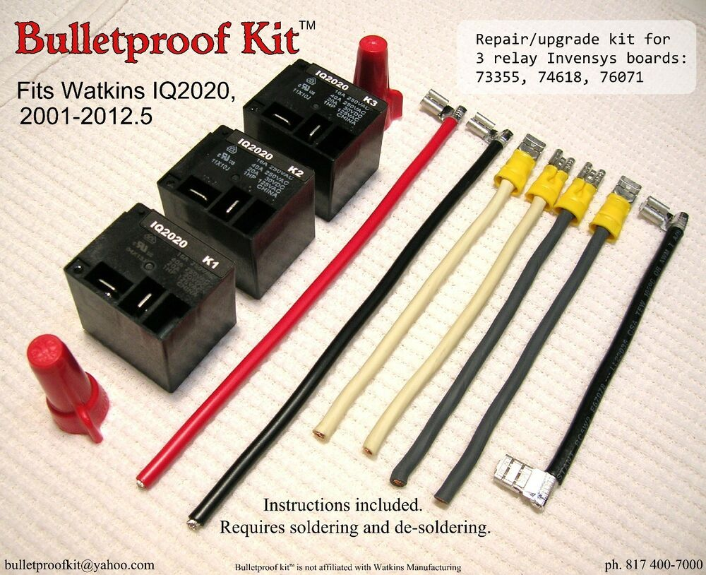 s l1000 bulletproof kit™ fits watkins iq2020 heater relay board 73355 iq 2020 wiring diagram at highcare.asia