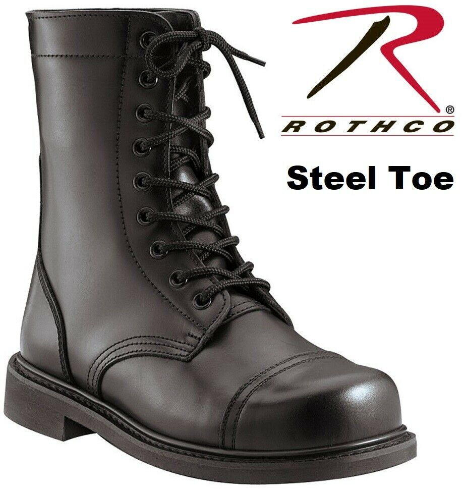 Steel Toe Boots Military Style Leather Steel Toe Combat