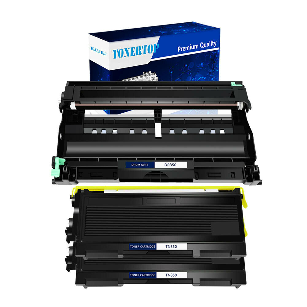 3 multipack tn350 toner cartridge and dr350 drum for brother mfc 7420 printers ebay. Black Bedroom Furniture Sets. Home Design Ideas