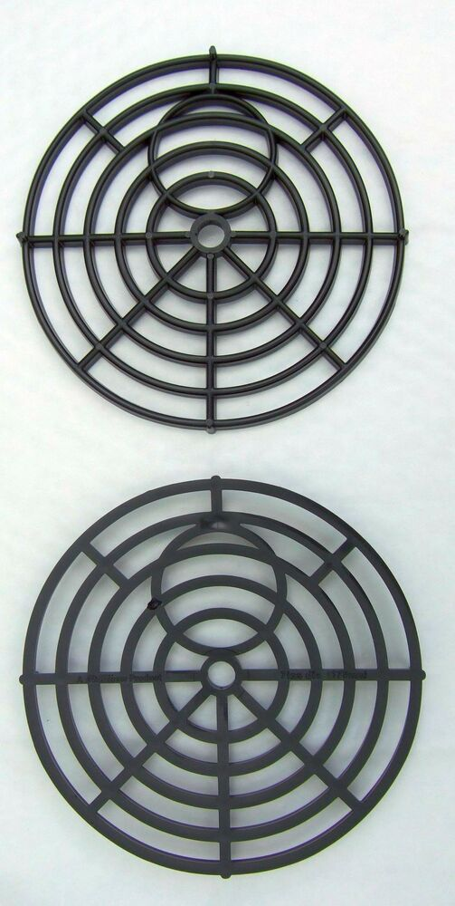 Black Round 7 Quot 175mm Heavy Duty Plastic Drain Grate Gully