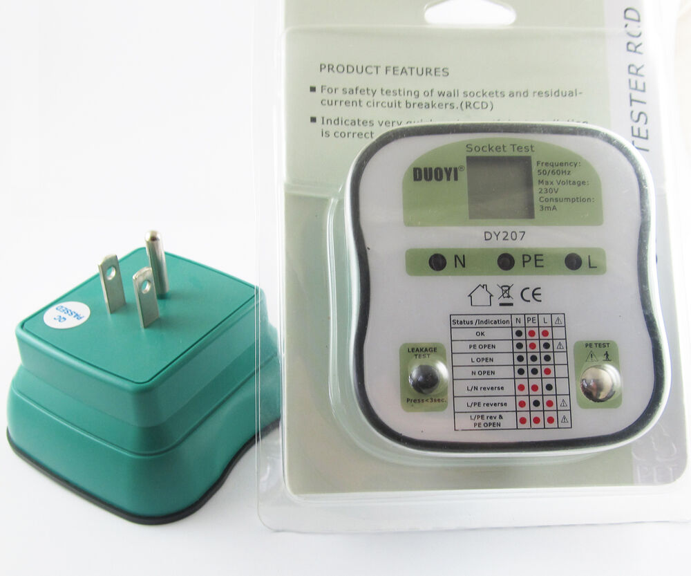 Electrical Plug Tester : Pc new duoyi dy electrical socket tester rcd plug us