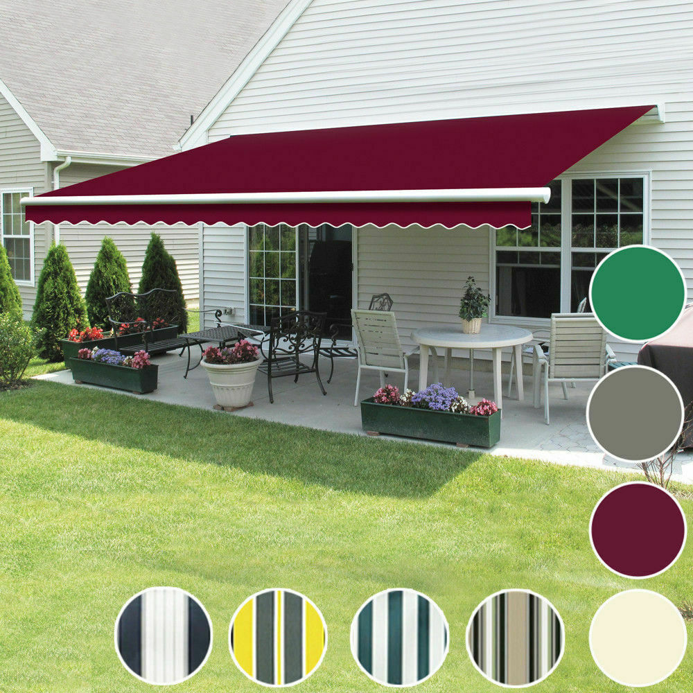 Details about 3 x 2.5m Manual Awning Patio Garden Sun Shade Shelter Retractable Greenbay & 3 x 2.5m Manual Awning Patio Garden Sun Shade Shelter Retractable ...