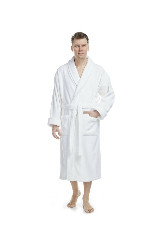 deluxe luxury turkish cotton terry hotel bathrobe mens womens very thick ebay. Black Bedroom Furniture Sets. Home Design Ideas
