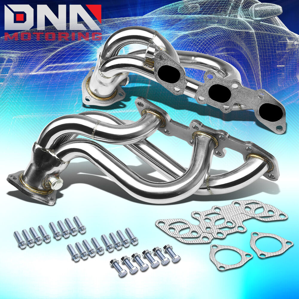 stainless steel header for 90 96 300zx fairlady z v6 non turbo exhaust manifold ebay. Black Bedroom Furniture Sets. Home Design Ideas