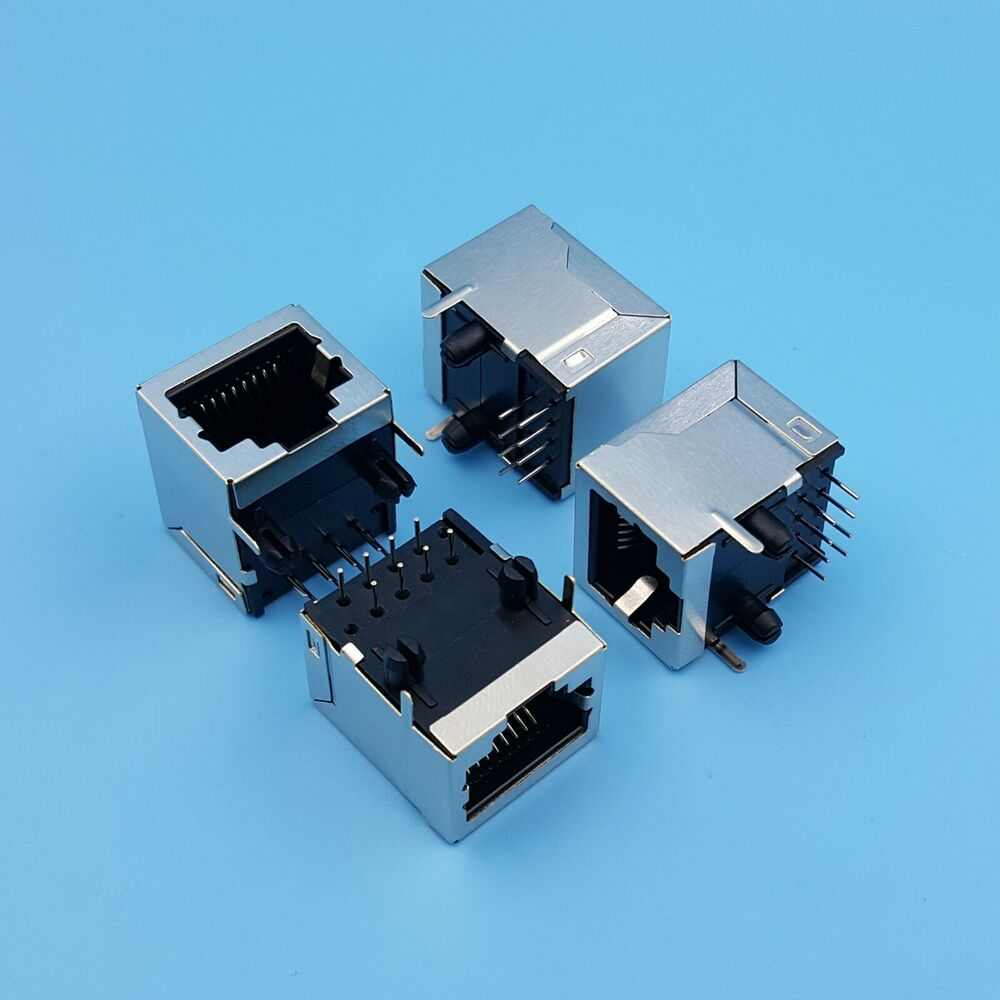10pcs rj45 network ethernet 8p8c female socket connector 8pin pcb mount ebay. Black Bedroom Furniture Sets. Home Design Ideas