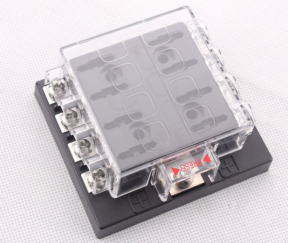 8 Way Terminals Circuit Car Auto Blade Fuse Box Block