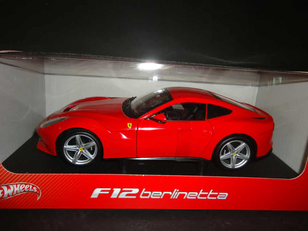 hot wheels ferrari f12 berlinetta red bcj72 1 18 ebay. Black Bedroom Furniture Sets. Home Design Ideas