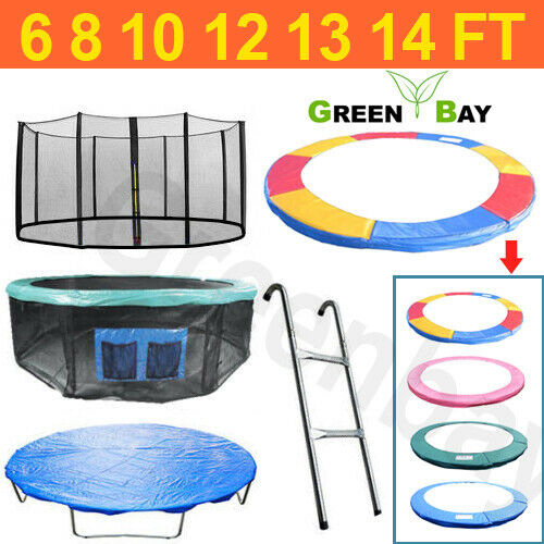 Trampoline Safety Net Replacement: TRAMPOLINE REPLACEMENT PAD PADDING SAFETY NET COVER LADDER