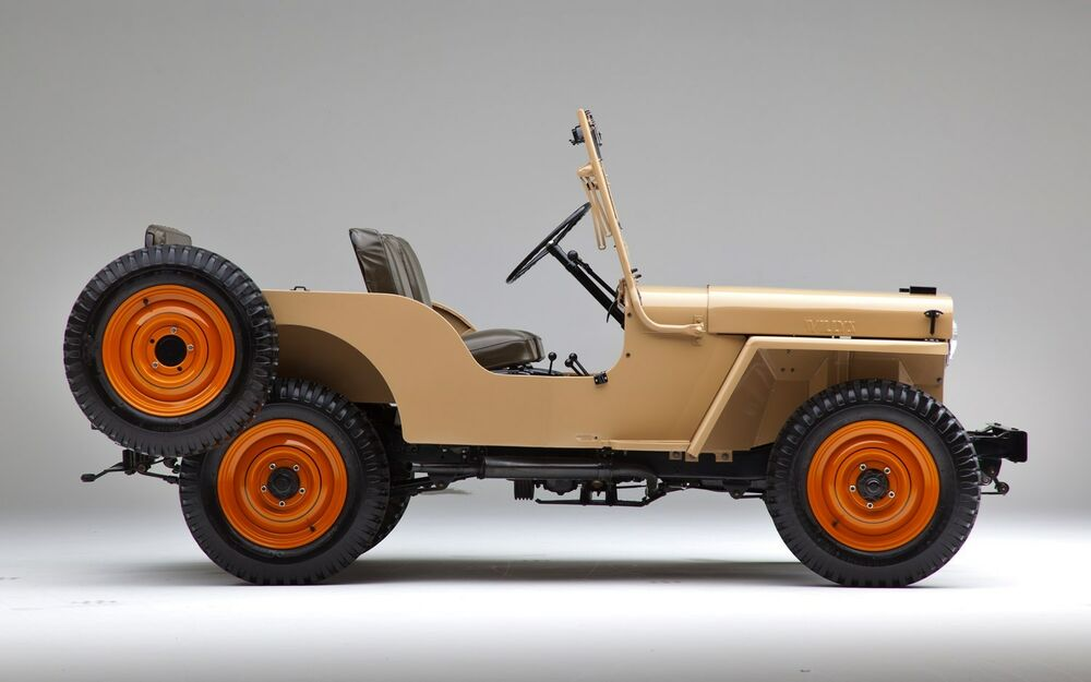 1945 willys jeep cj2a refrigerator magnet side view 40 mil thick ebay. Black Bedroom Furniture Sets. Home Design Ideas