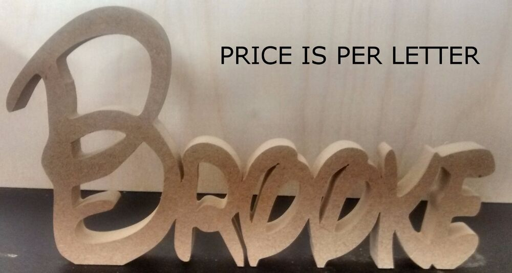 STYLE WOODEN NAME PLAQUE NAMEPLAQUES PRICE IS PER LETTER FDX EBay