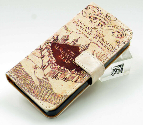harry potter iphone 5 case hogwarts harry potter marauders map leather wallet flip 1673