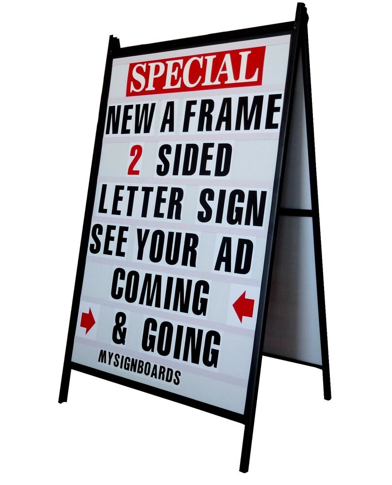 24 x 36 sidewalk a frame sign w letter track insert panels for Sign letter track kit