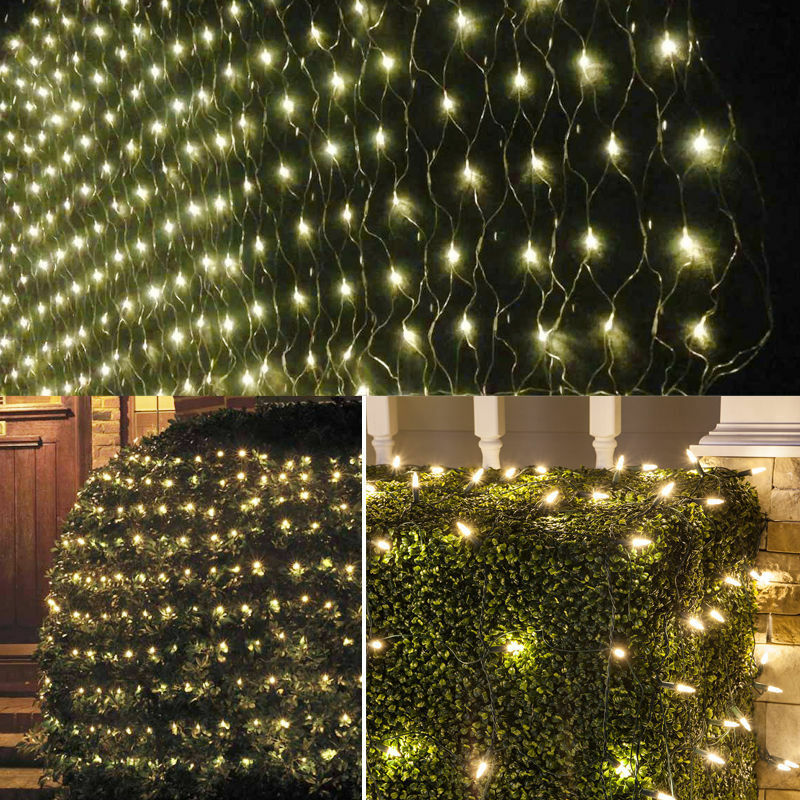 Curtain Wall Lighting : M led christmas holiday warm white curtain house