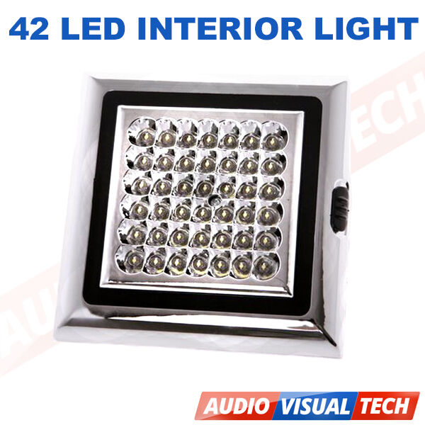 12 V Volt 42 Led Interior Ceiling Cabin Light Lamp For Caravan Boat Truck Car Ebay