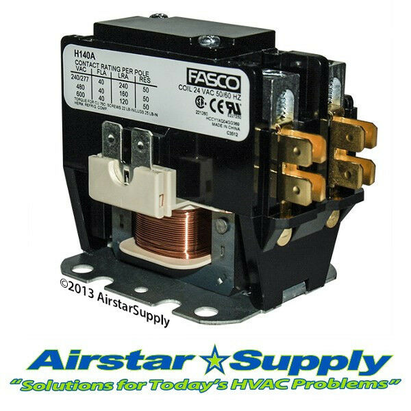 Trane Replacement Contactor 1 Pole 40 Amp 24v Coil