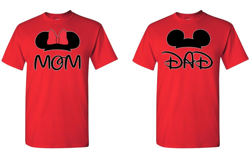Mom dad disney figure perfect couple 2 t shirts ebay T shirts for dad