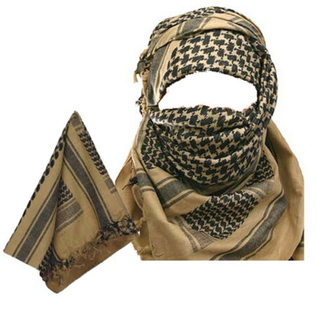 img-MILITARY ARMY Sand and Black SHEMAGH SCARF ARAB/SAS/RETRO (Fully woven MTP Match
