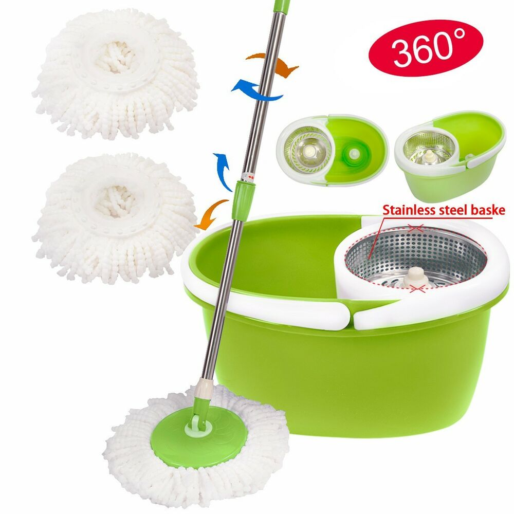 360 176 Rotating Magic Spin Mop Stainless Steel Dehydrate