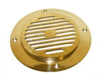 Vent cover grille type B - polished brass  150mm x 10mm N73020R