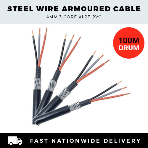 4mm 3 core 3 phase cable armoured cable mains cable per. Black Bedroom Furniture Sets. Home Design Ideas