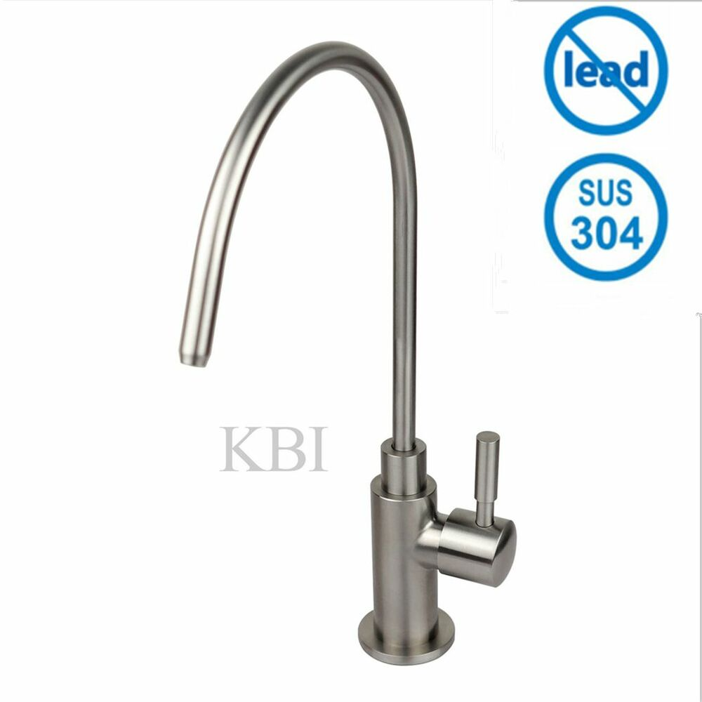 kbi drinking water filter tap stainless steel brush