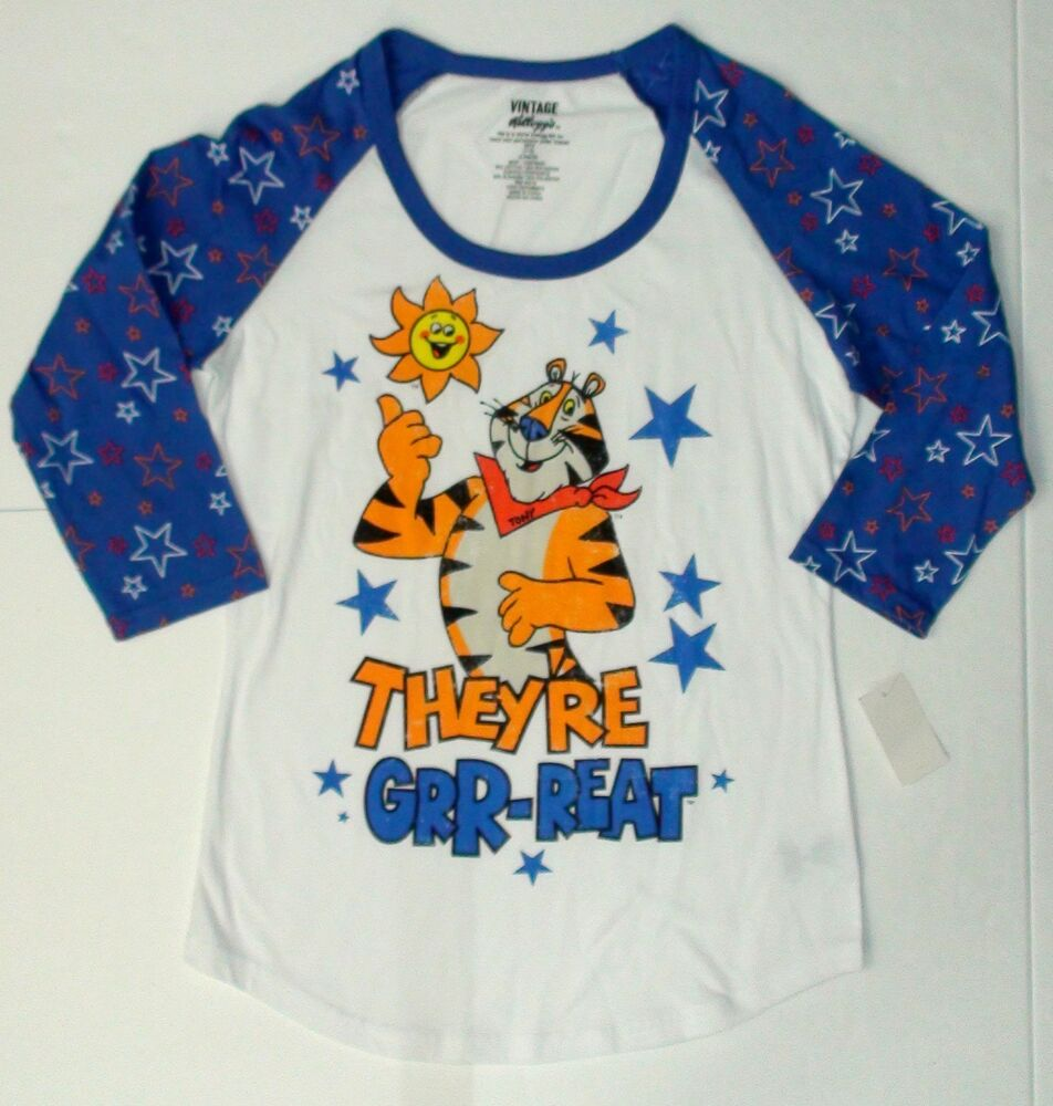New ladies juniors kellogg 39 s tony the tiger t shirt they The great t shirt