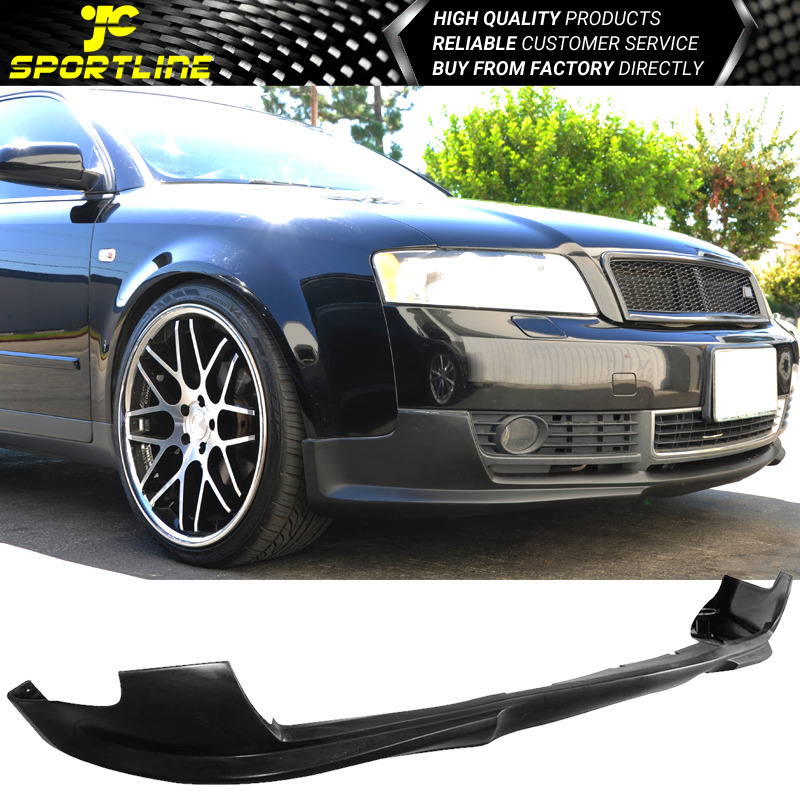 fit audi a4 b6 02 05 black polyurethane front bumper lip. Black Bedroom Furniture Sets. Home Design Ideas